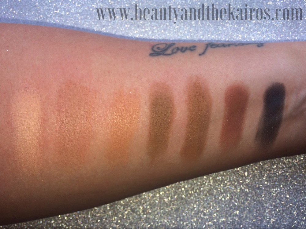 Morphe 35F Fall Into Frost Eyeshadow Pallet Swatches