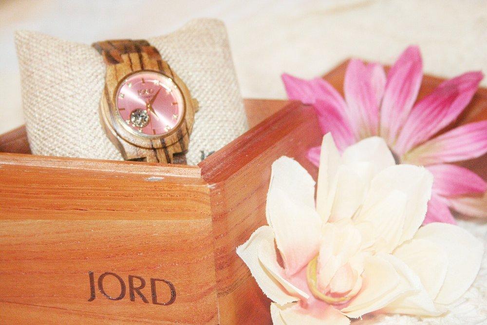 jord watch zebrawood rose cora