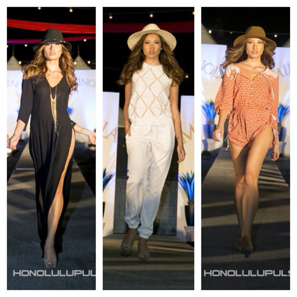 Here I am pictured at SALT at KAKA' AKO fashion show for Mikinola – June 2015  PHOTOS BY: MARK REMELB