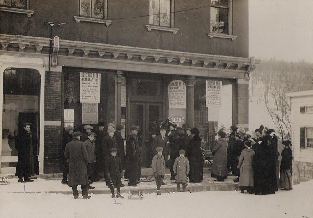Klinkhart Hall early 1900s. Image courtesy of Sharon Historical Society (click image to enlarge)