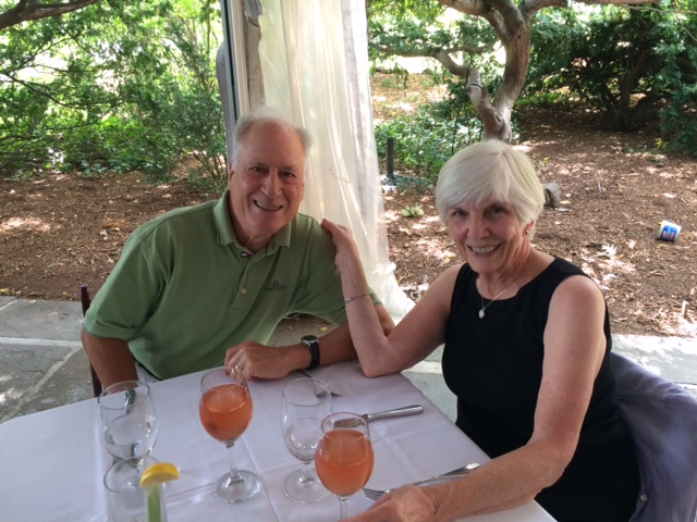 Nancy DiPace Pfau with husband, and former Lecture Series speaker, Dr. Richard Pfau. (click image to enlarge).