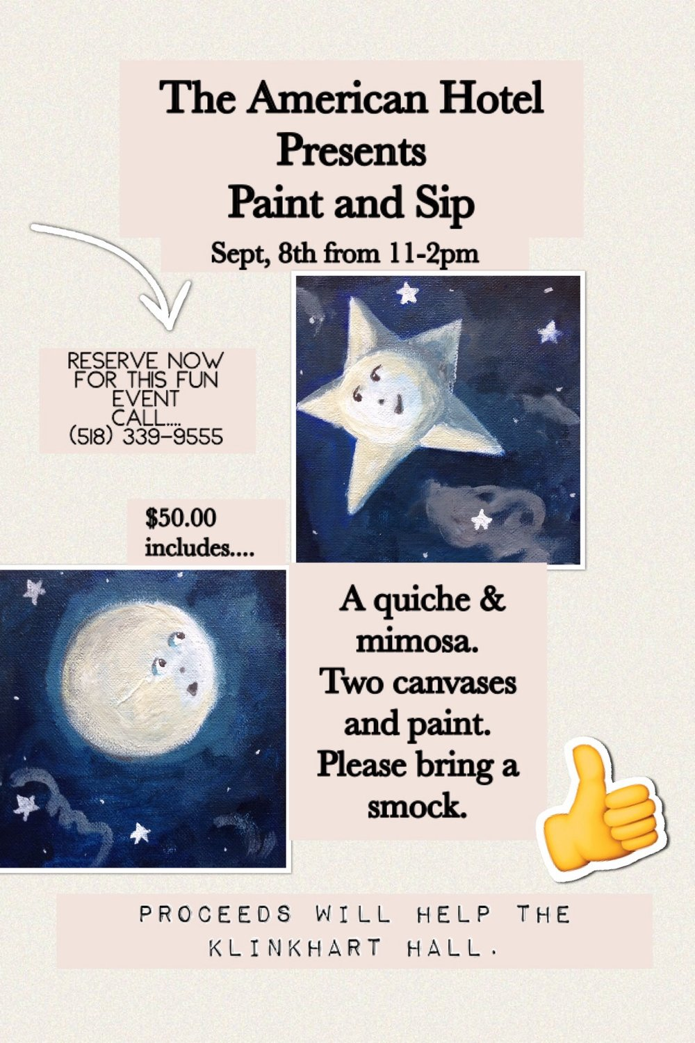Paint and Sip poster