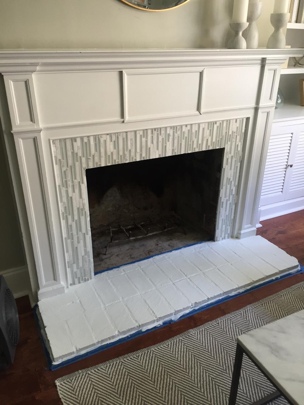 fireplace facelift u2014 cantrell interiors