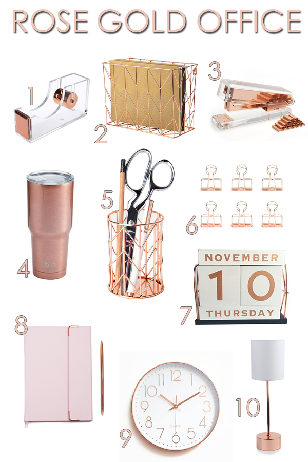 Delicieux Rose Gold Office Accessories