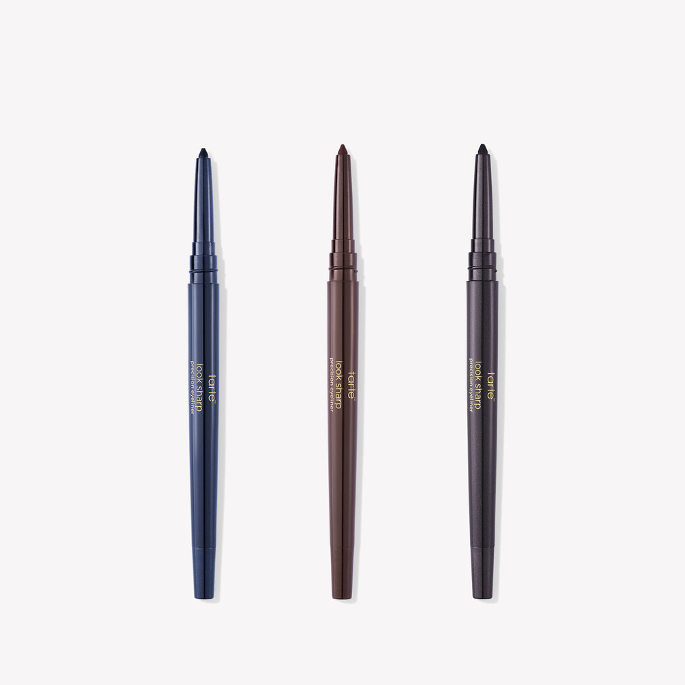 look sharp precision eyeliner trio vol. i  These are great eyeliners! Very creamy and a nice fine point, which can be difficult in a twist up eyeliner. Navy, Brown, and Charcoal liners should be in any beauty arsenal.