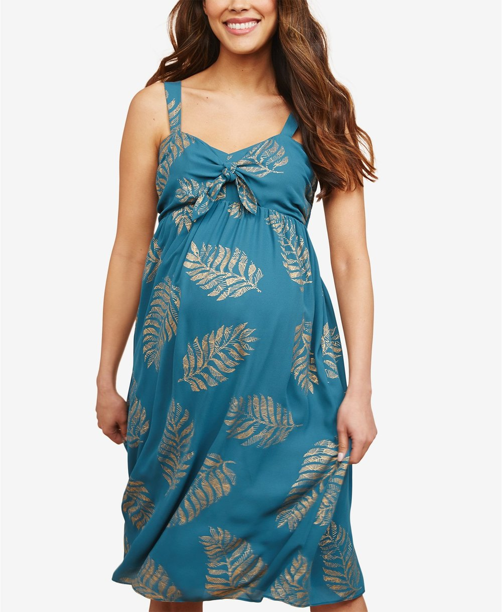 Plus Size Twist-Front Dress  $49.98 - Macy's  With a stylish silhouette, this plus-size twist-front dress by Motherhood Maternity is an essential for expecting moms.