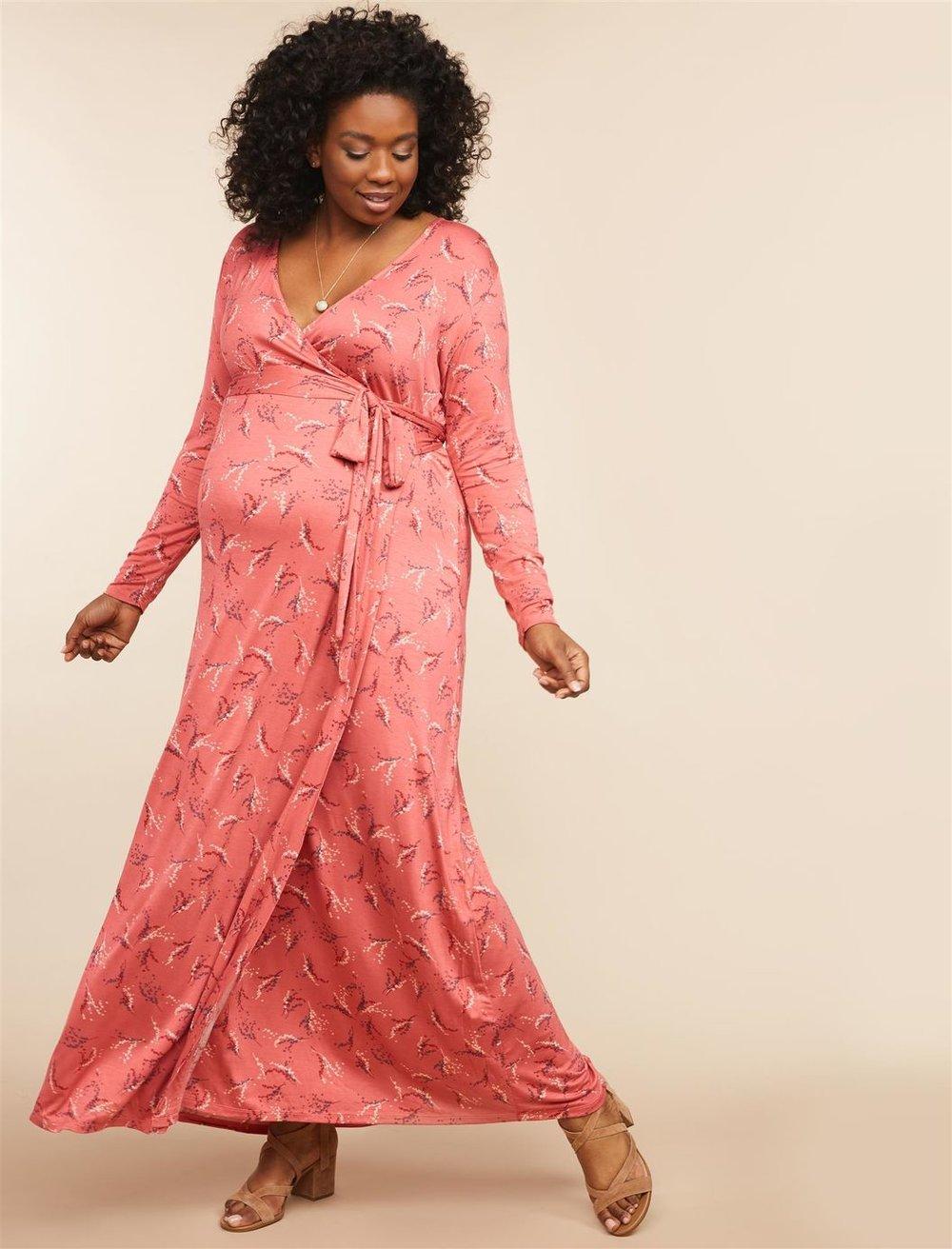 3caba4fe36ed Pinkblush Maternity Pleated Chiffon Lace Top Maxi Dress - raveitsafe
