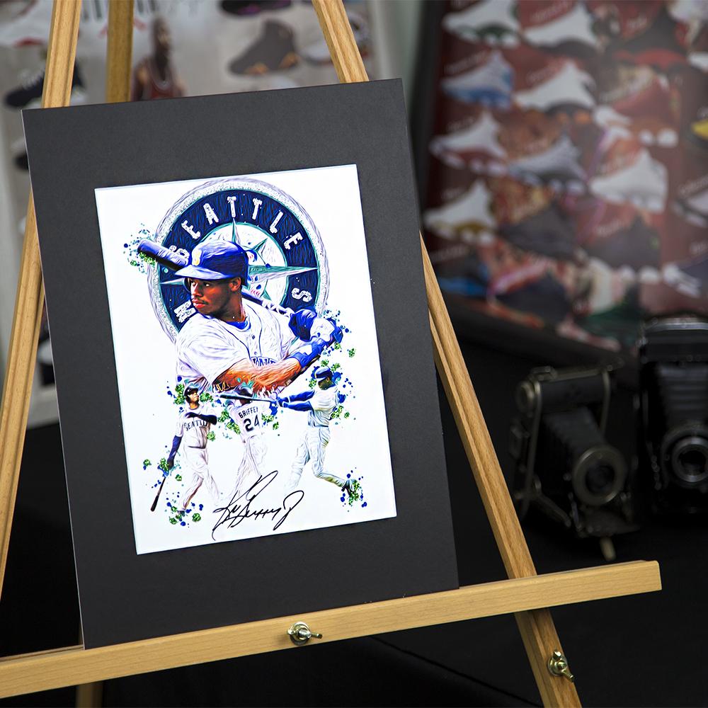 1e89d9eca8 Ken Griffey Jr. #24 - Unique Artwork - Seattle Mariners - 3D Effect -  Sports Art Print - Modern Art Poster