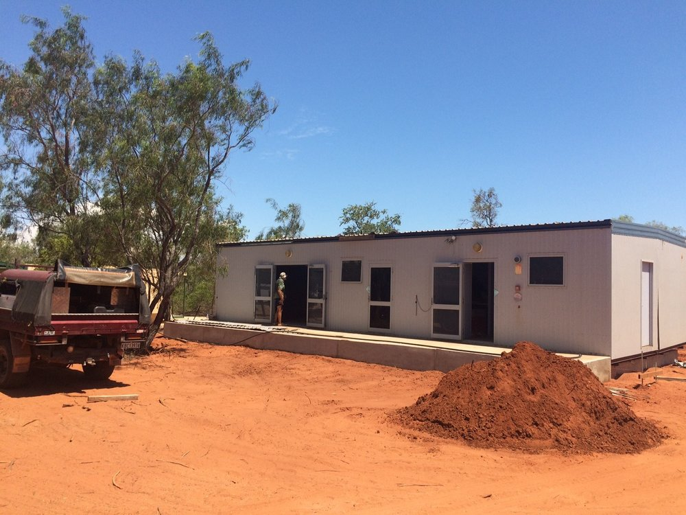 Our new office, shop and interpretive centre - generously donated by Woodside Energy Ltd!