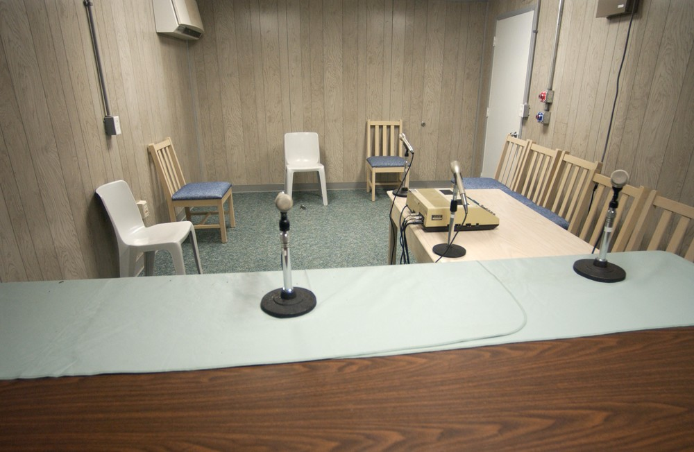 The room where the Combatant Status Review Tribunal used to meet at Guantanamo. US Navy photo