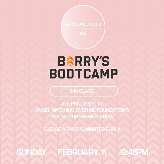 Every year we put on an amazing fashion show for AWOM Girls Club, a support group for 6-8th grade girls at Olsen Middle School to teach them about self-love and loving others showing them that they too are models! Help us raise funds by coming to this amazing work out class hosted by @barrysbootcamp so we can make these girls feel beautiful 👚👛👡 #awomgirlsclub