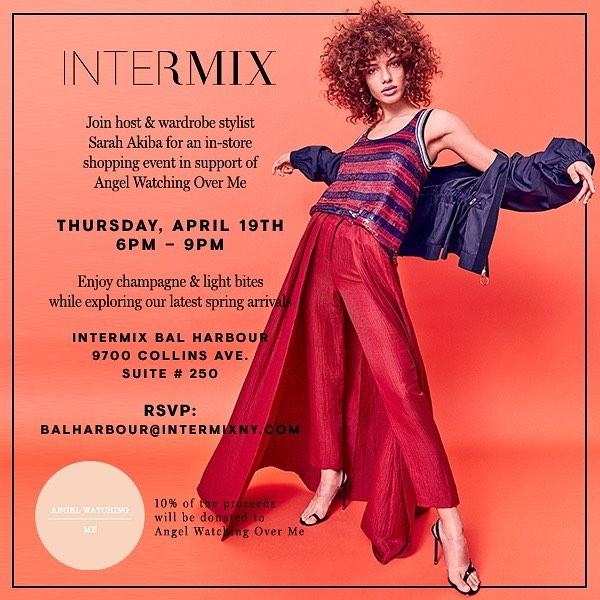 Next week join us for a shopping experience with our founder @soakiba and @intermixonline at Bal Harbor Shops! A portion of your purchase will be donated to the foundation! Also, girl boss @cocohara will be Dj-ing 🎧! See you there!