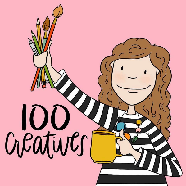 Adorable cover art for 100Creatives by  @brandi_kincaid