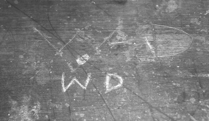 Walt's childhood school desk. Photo courtesy of themousecastle.com