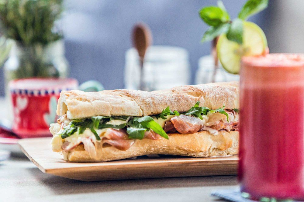 authentic Italian panino and fresh-squeezed juice