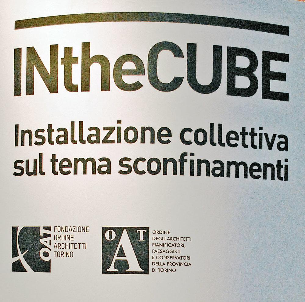 Installazione collettiva sul tema sconfinamenti Torino luglio 2015