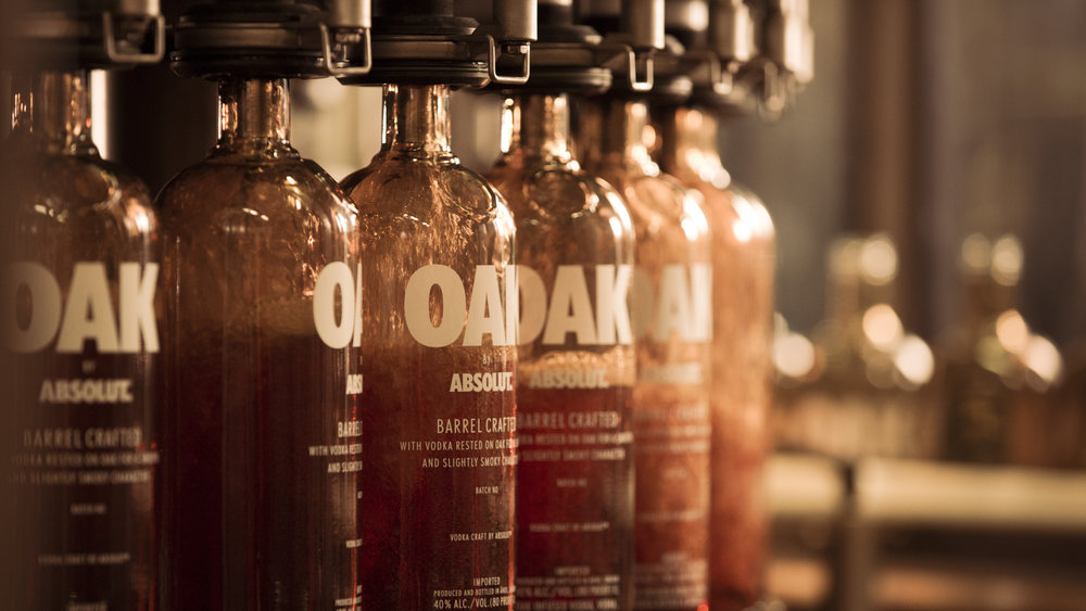 En riktig innovation. Oak by Absolut på väg till Amerika.