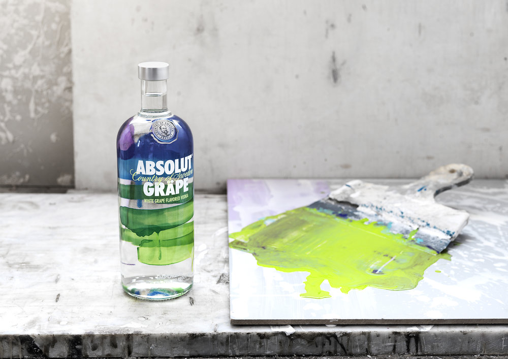 Absolut flavors re-design. Flavor expressed through art.
