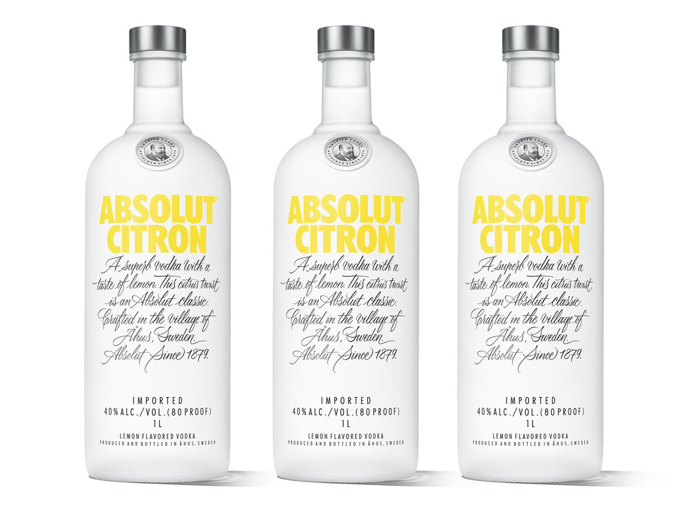 Cosmo time! Absolut Citron and Mandrin re-designed.