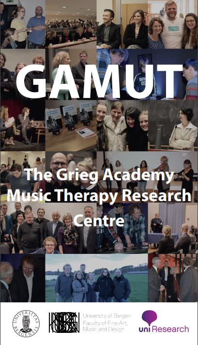 GAMUT er eit tverrfagleg tvillingssenter som forskar på samanhengar mellom musikk og helse i klinikk og kvardagssituasjonar. Foto: Utklipp frå GAMUTs brosjyre (sjå www.gamut.no )