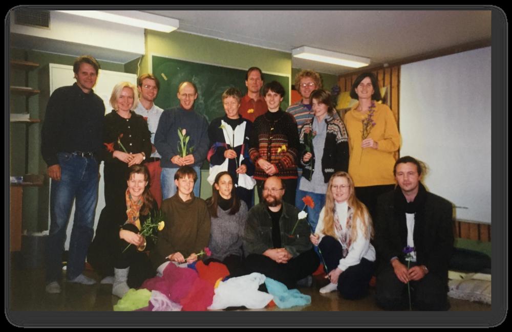 Første kull Guided Imagery and Music, trinn 1 med Lisa Summer, 1995.