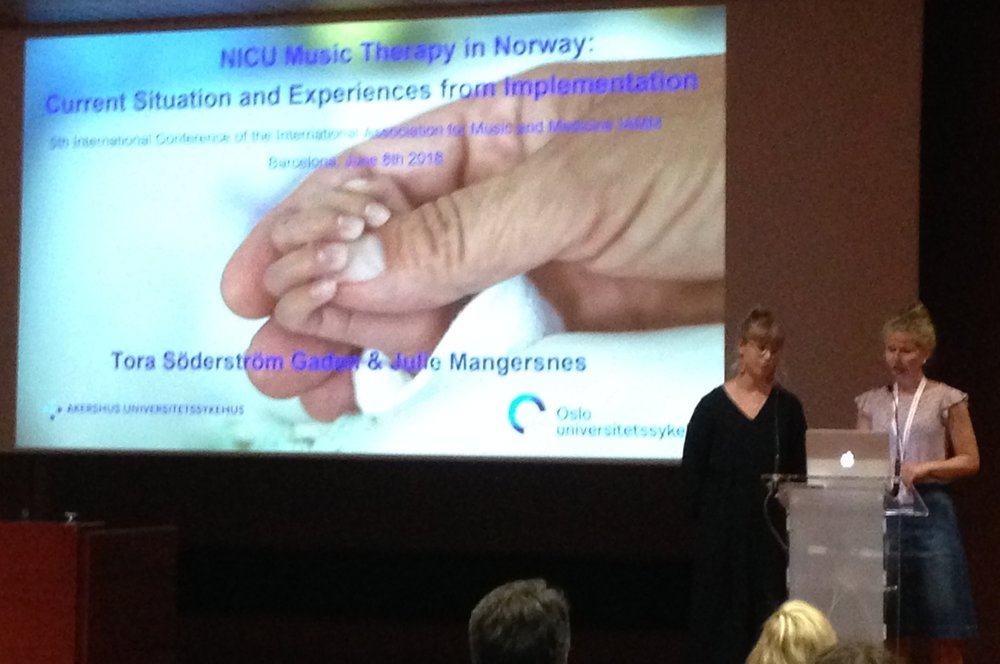 "Tora Söderström Gaden og Julie Mangersnes:  ""NICU Music Therapy in Norway: Current situation and experiences from implementation"""