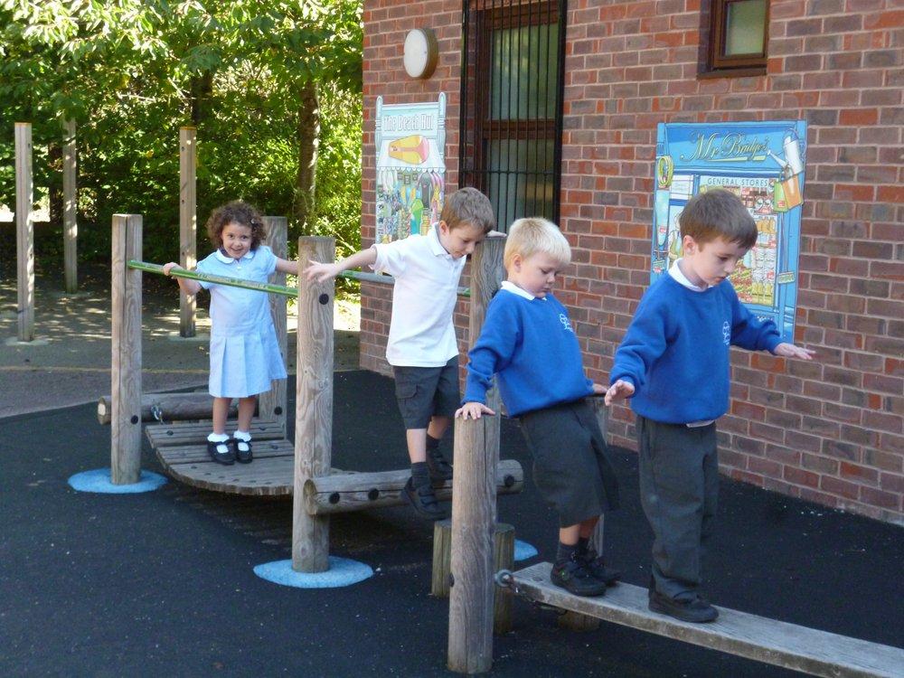 Enjoying the Adventure Playground.