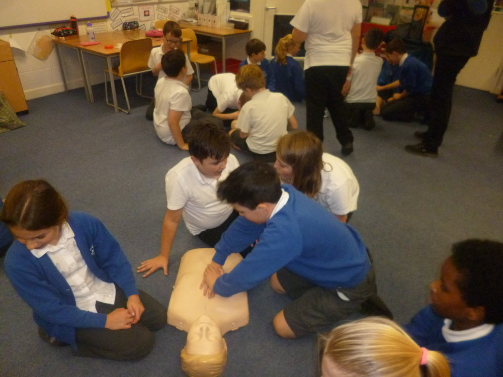 "We used ""Annie"" to practise resuscitation techniques."