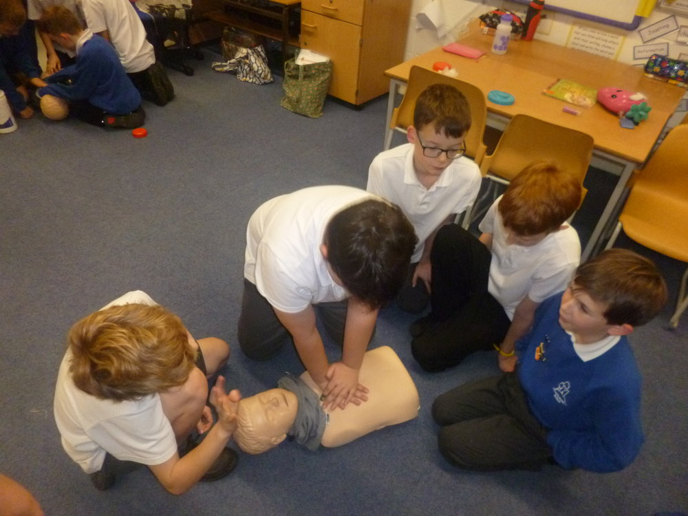 We learnt to do thirty compressions to two breaths.