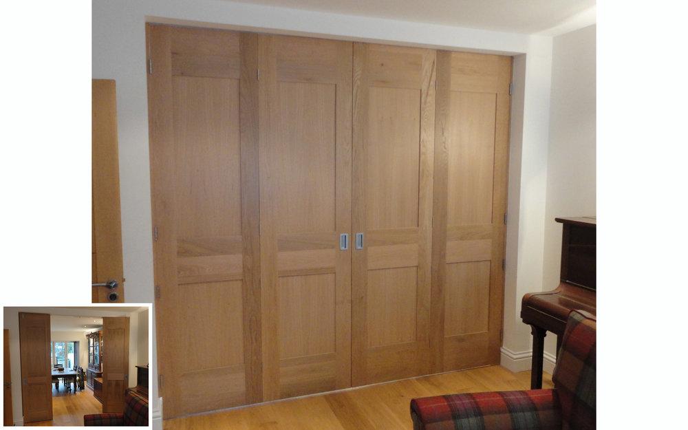 Oak Bi-fold Room Dividers