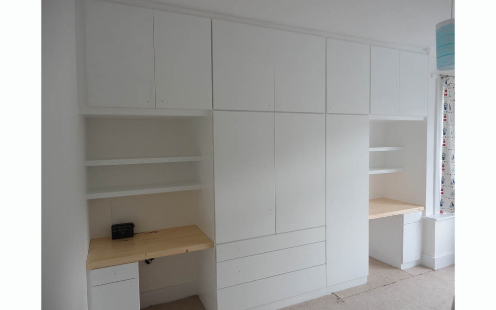 Wardrobe with Twin Desks