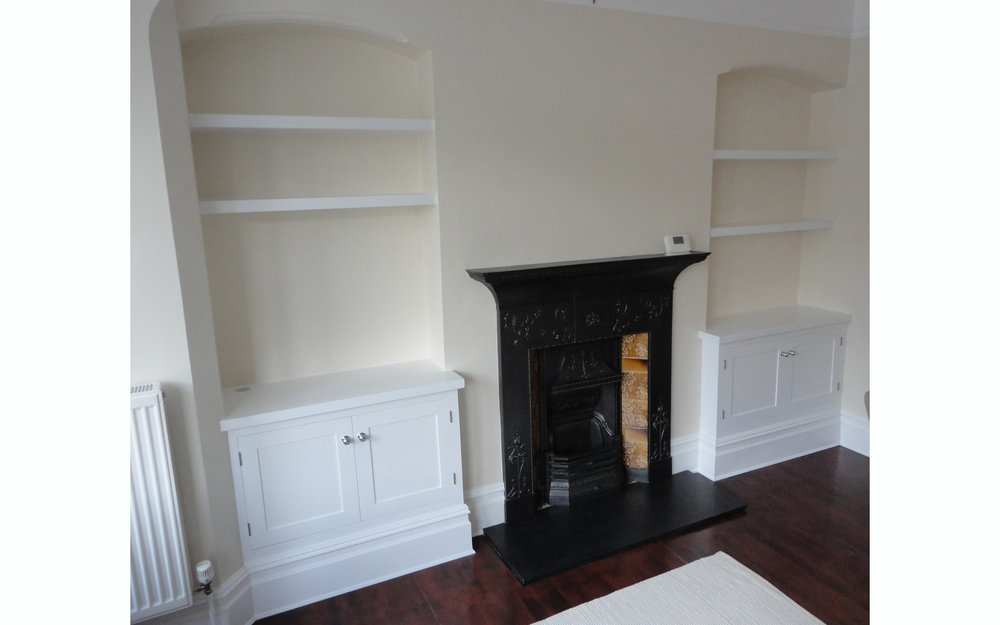 Alcove Cupboards with Ornamental Skirting