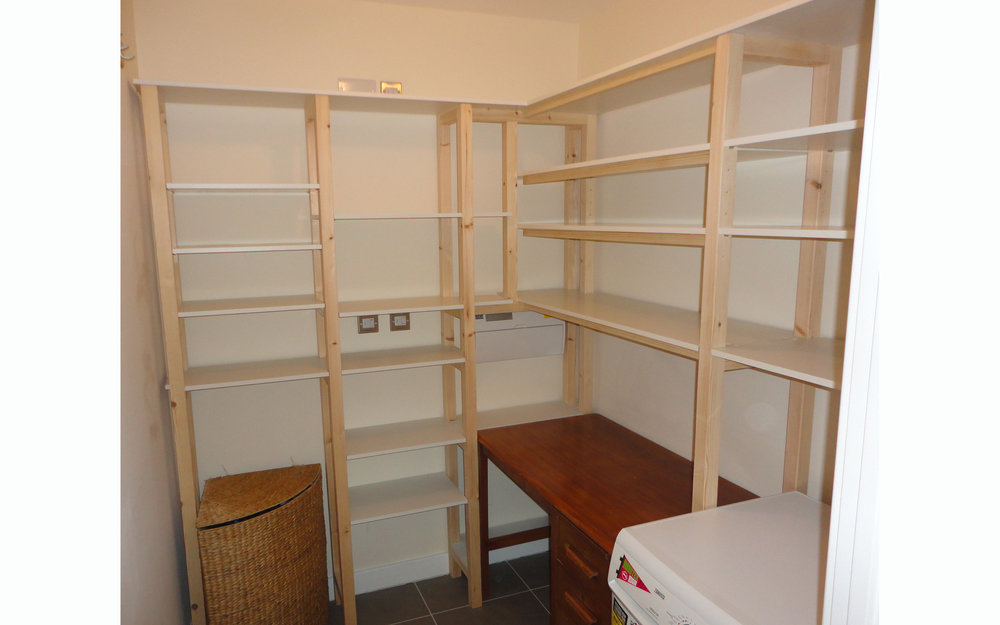 Utility Room Shelving