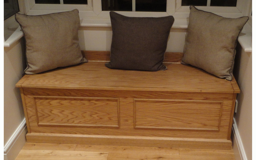 Oak Window Seat/Chest