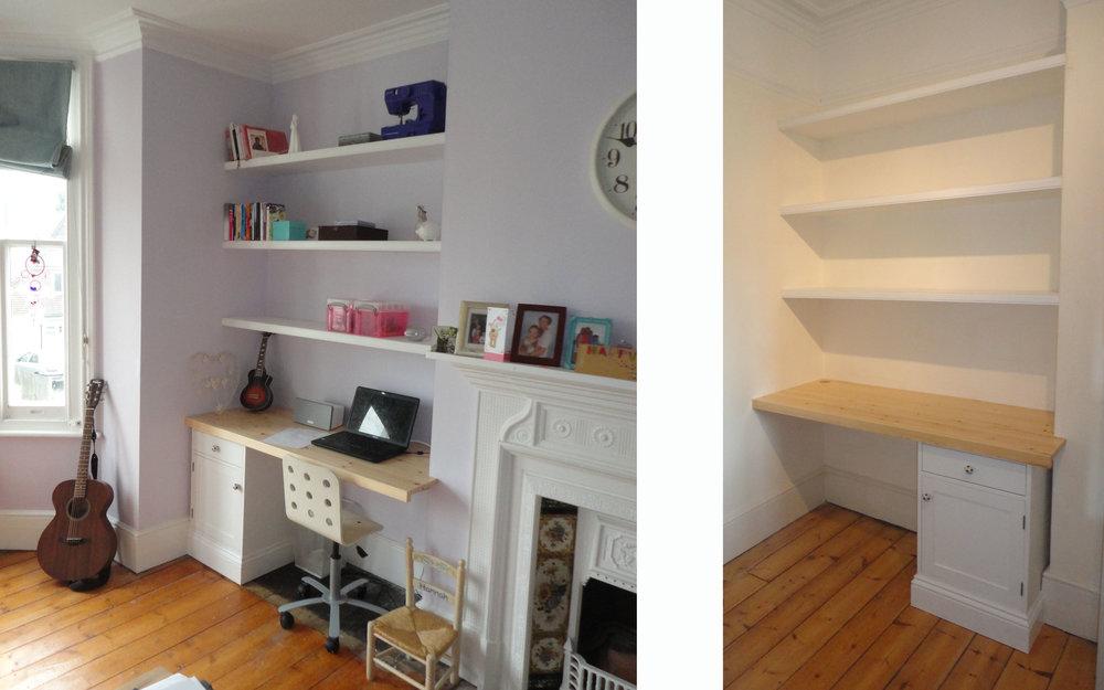 Bedroom Desks and Shelving