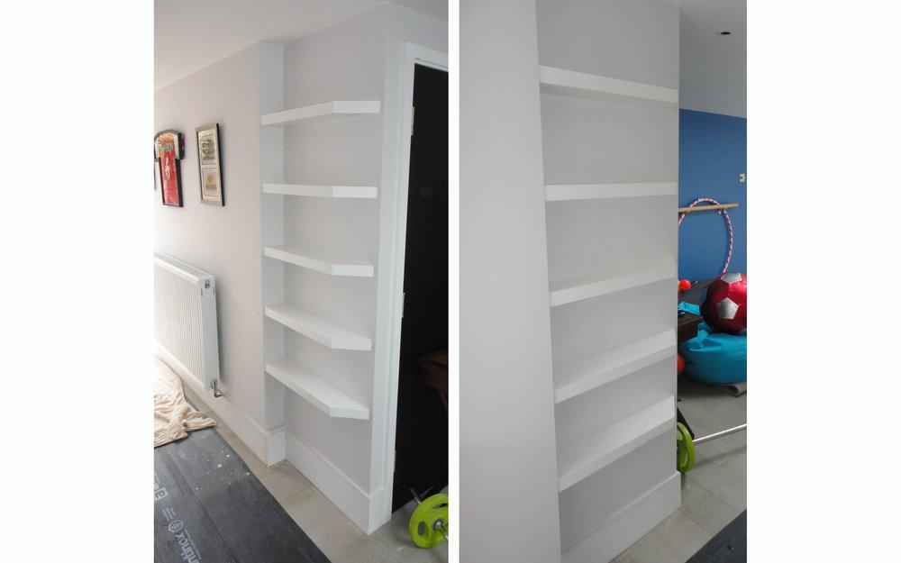 Shallow Floating Shelves