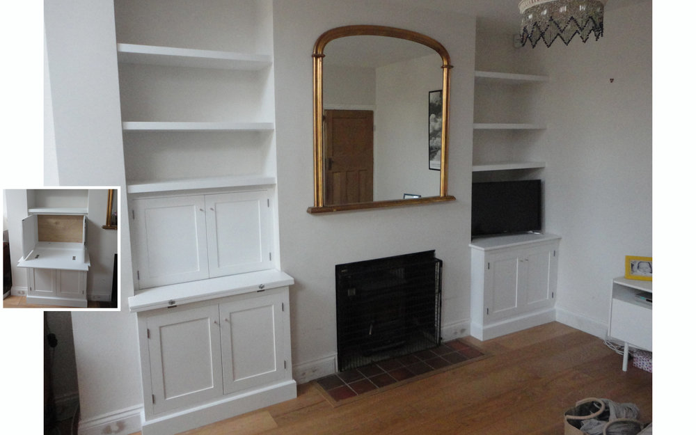 Alcove Cupboards with Computer