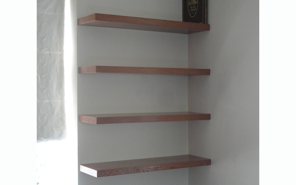 Floating Oak Shelves