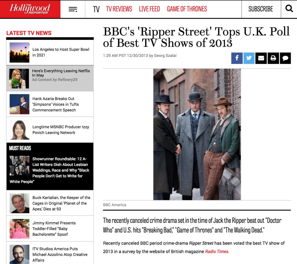THR: Ripper Street