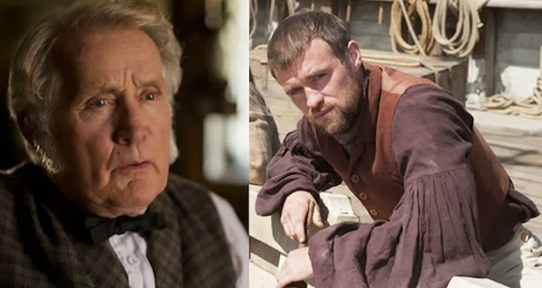 Martin Sheen as Old Tom Nickerson and Jonas Armstrong as First Mate Chase