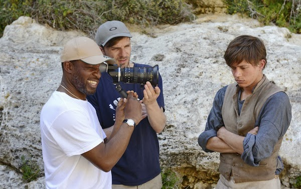 On location with Alrick Riley (left) and Sundance award winning cinematographer David Raedeker (centre)