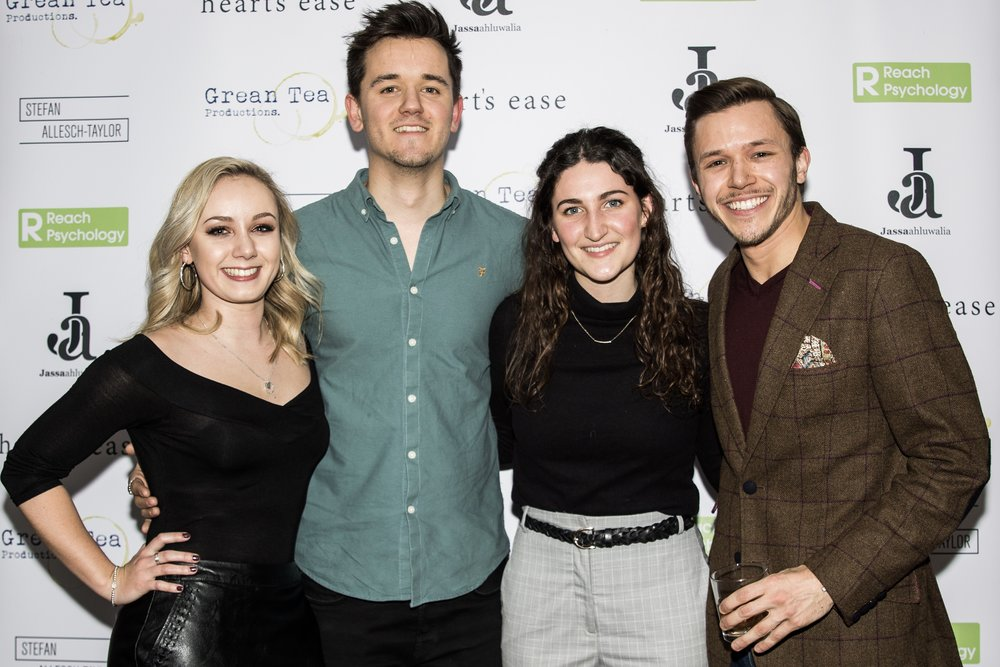 Annie Botta, Olly Fawcett, Nina Harding and Jassa Ahluwalia attend the cast and crew screening of Heart's Ease.