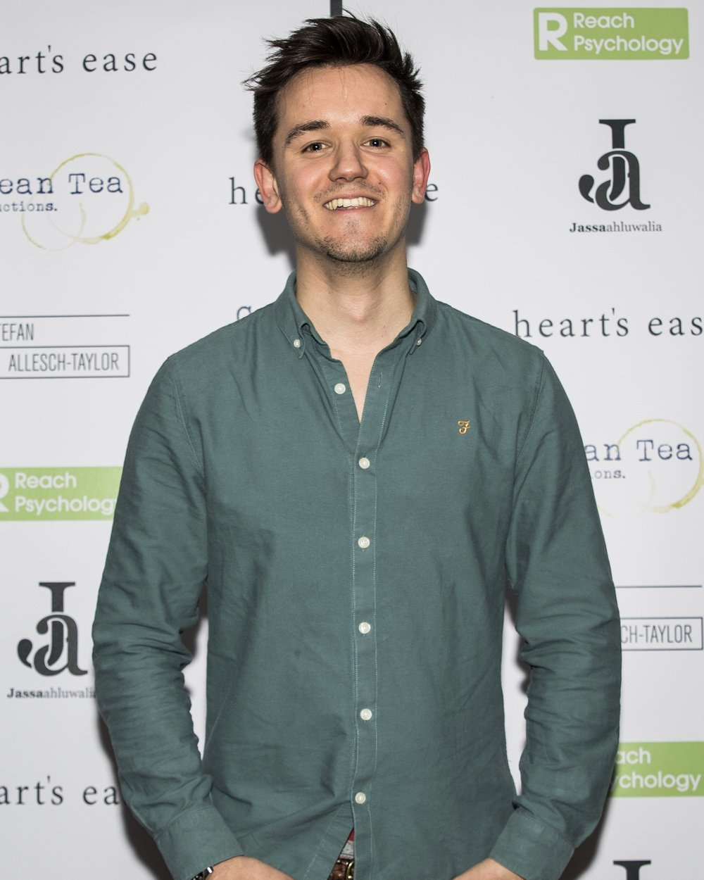 Olly Fawcett attends the cast and crew screening of Heart's Ease.