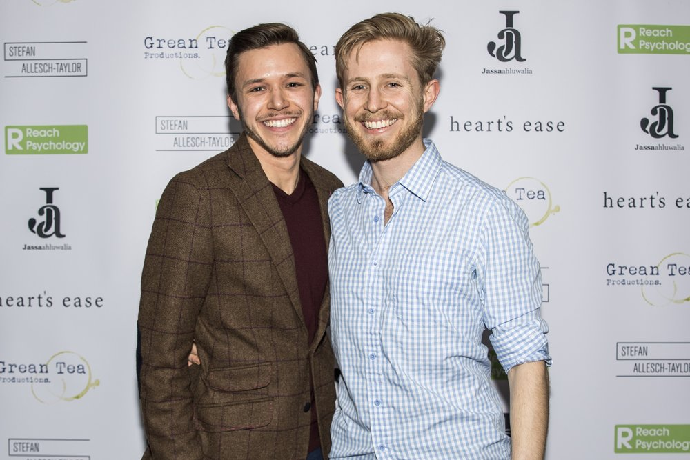 Jassa Ahluwalia and Sebastian Solberg attend the cast and crew screening of Heart's Ease.