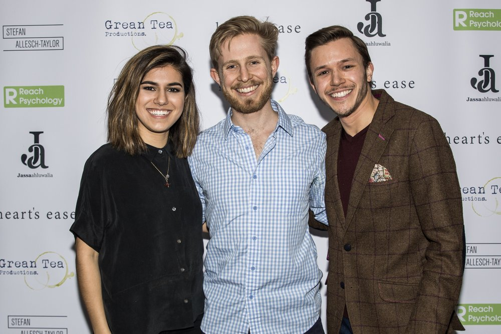 Ramanique Ahluwalia, Sebastian Solberg and Jassa Ahluwalia attend the cast and crew screening of Heart's Ease.