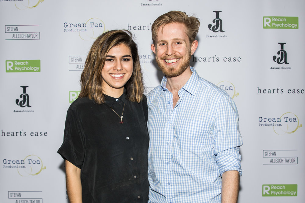 Ramanique Ahluwalia and Sebastian Solberg attend the cast and crew screening of Heart's Ease.