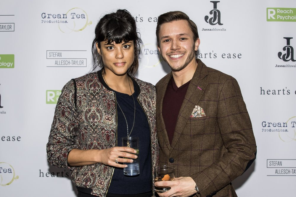 Zoë Robinson and Jassa Ahluwalia attend the cast and crew screening of Heart's Ease.