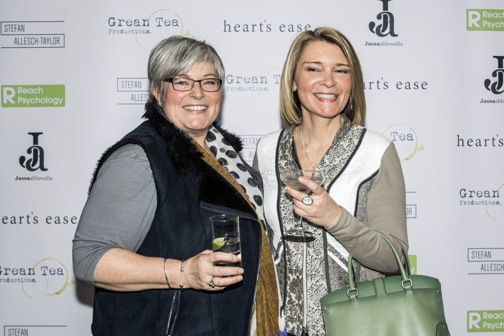 Alice Blount and Christie Mountford attend the cast and crew screening of Heart's Ease.