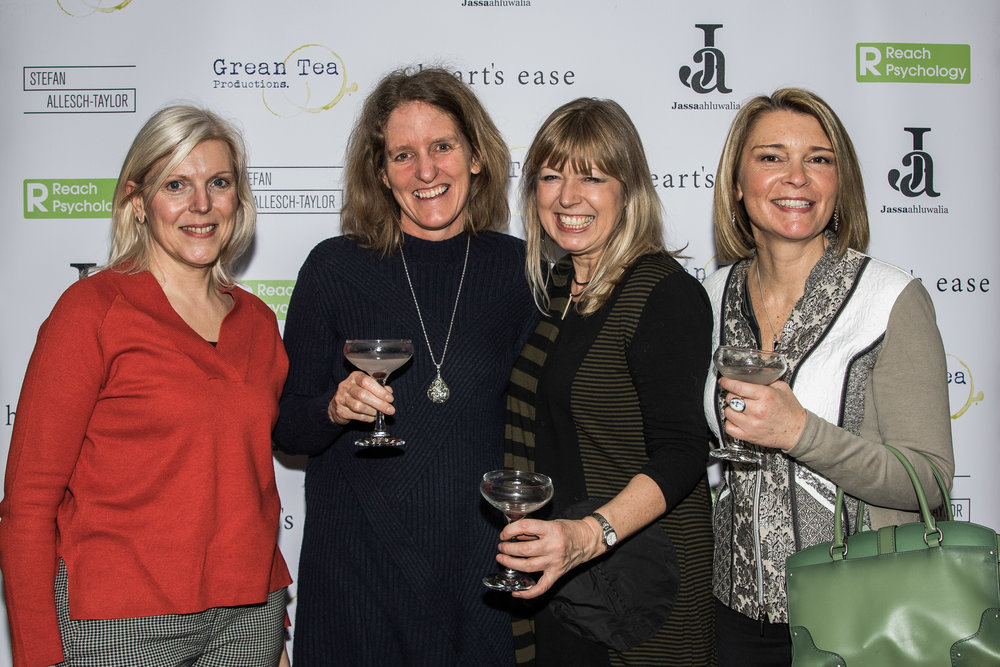 Rainie Holtham, Kate Allen, Sarah Ahluwalia and Christie Mountford attend the cast and crew screening of Heart's Ease.