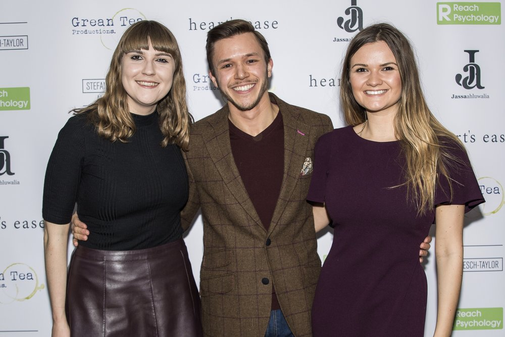 Kate South, Jassa Ahluwalia and Hannah Merriman attend the cast and crew screening of Heart's Ease.